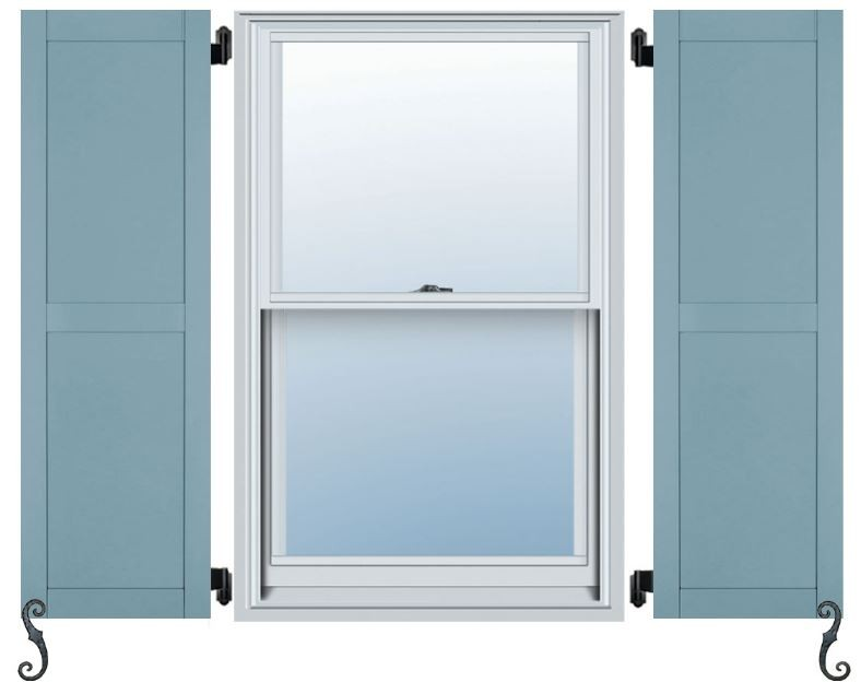 Atlantic architectural collection flat panel shutters - Flat panel exterior vinyl shutters ...