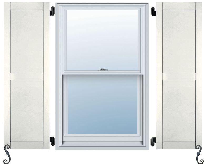 Atlantic pro series flat panel straight top shutters - Flat panel exterior vinyl shutters ...