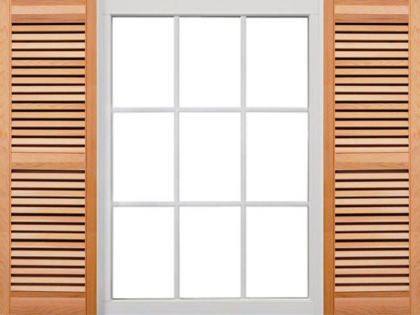 Wood Shutters Closed : Premium closed louver wood shutters