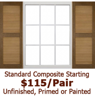Standard Closed Louvered Composite Shutters