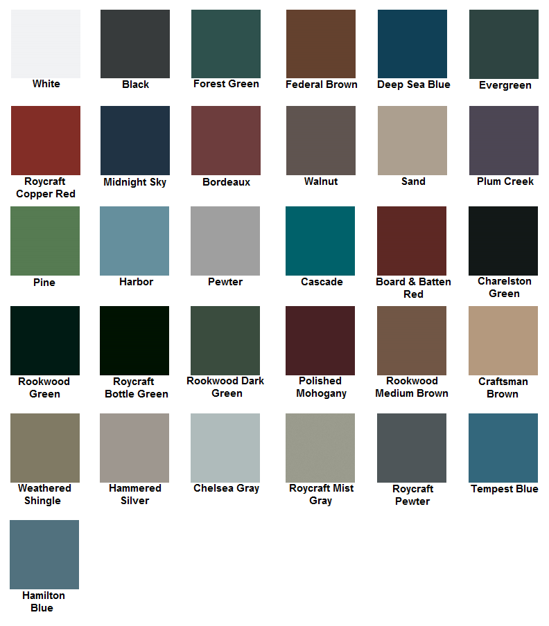 Atlantic Architectural Collection Colors