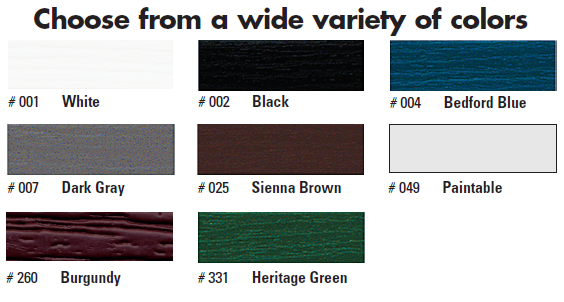 Vinyl Shutter Colors