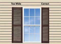 Measuring Exterior Shutters