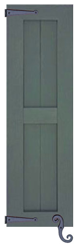 Custom Country Style Vinyl Shutters Decorative Shutters