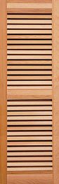 Closed Louver Wood Shutters