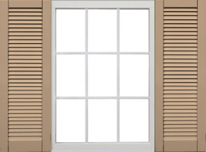 Atlantic Shutters Classic Collection - Faux Louvered Shutters