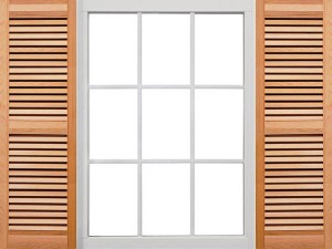 Premium Closed Louver Wood Shutters