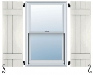 Atlantic Pro Series - Board & Batten Straight Top Shutters