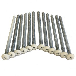 Vinyl Shutter Screws, 12-Pack