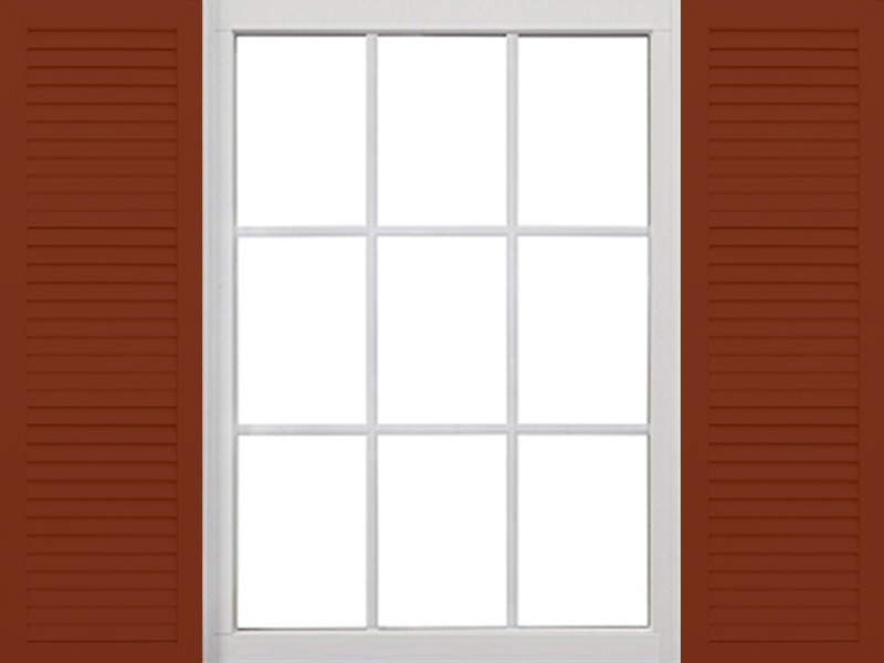 Aluminum Louvered Shutters Exterior Colonial Shutters