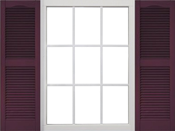 Premier Open Louvered Exterior Vinyl Shutters Decorative