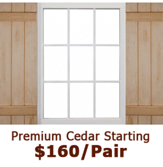 Premium Closed Board & Batten Wood Shutters
