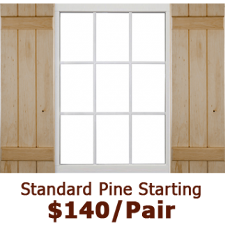 Standard Closed Board & Batten Wood Shutters