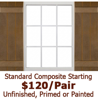 Standard Closed Board & Batten Composite Shutters