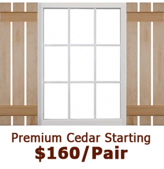 Premium Open Board & Batten Wood Shutters