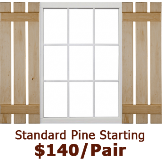 Standard Open Board & Batten Wood Shutters