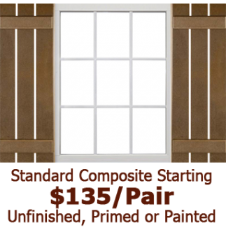 Standard Open Board & Batten Composite Shutters