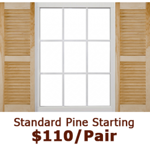 Standard Open Louvered Wood Shutters