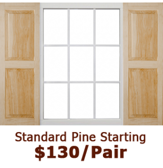 Standard Raised Panel Wood Shutters