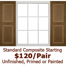 Standard Raised Panel Composite Shutters
