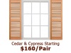 Premium Open Louver Wood Shutters