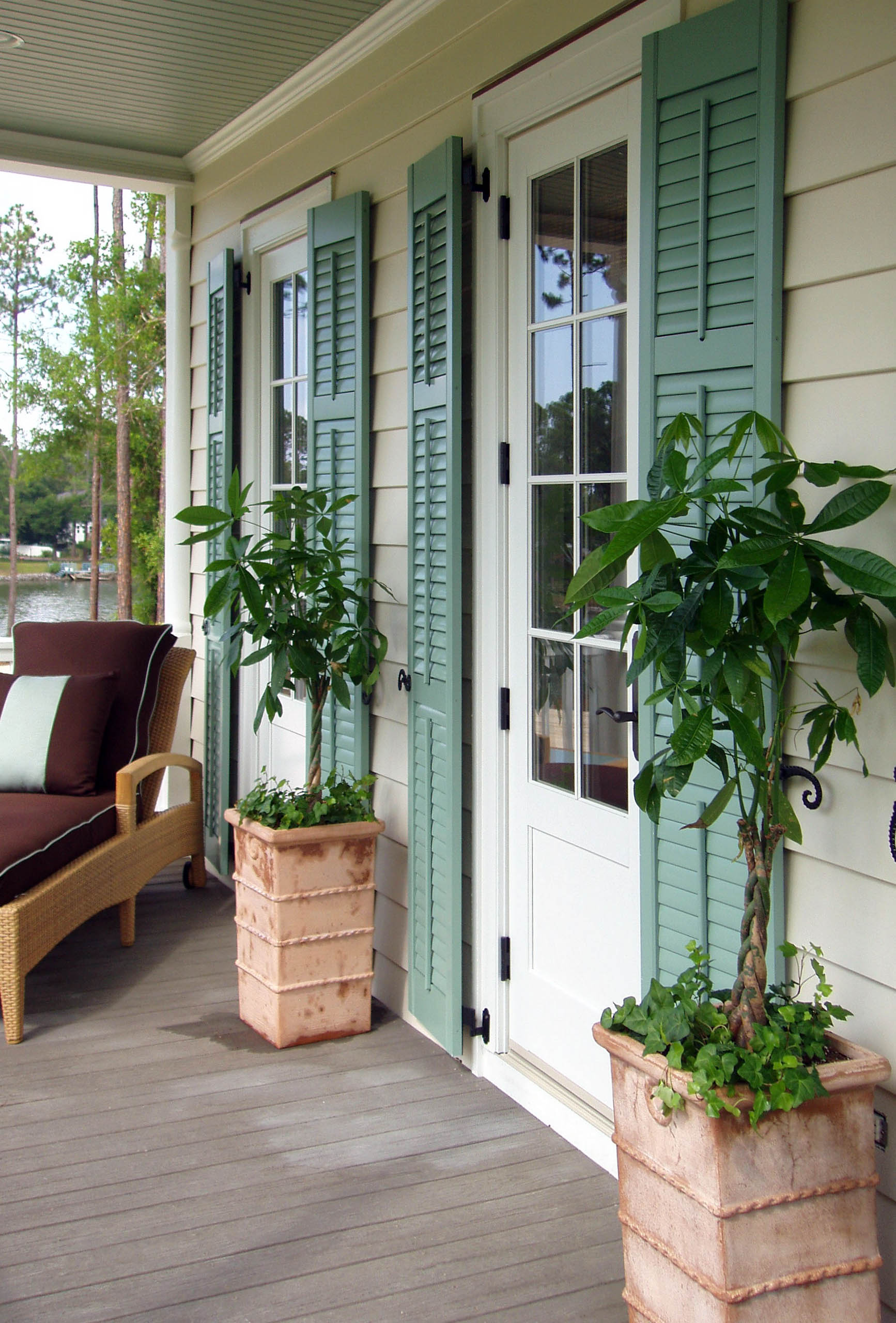 Composite shutters gallery decorative shutters - Exterior louvered window shutters ...