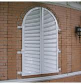 Legends Aluminum Arched Louver Shutters