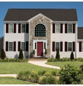 Colonial with Legends Vinyl Louver Shutters