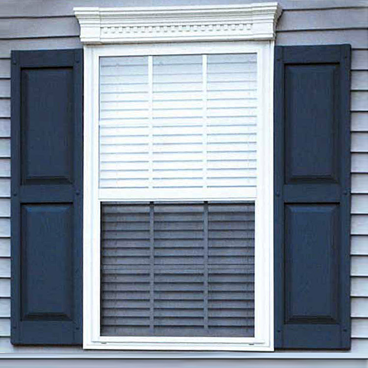Legends raised panel vinyl shutters - Where to buy exterior window shutters ...