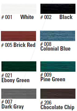 Standard Paint Colors