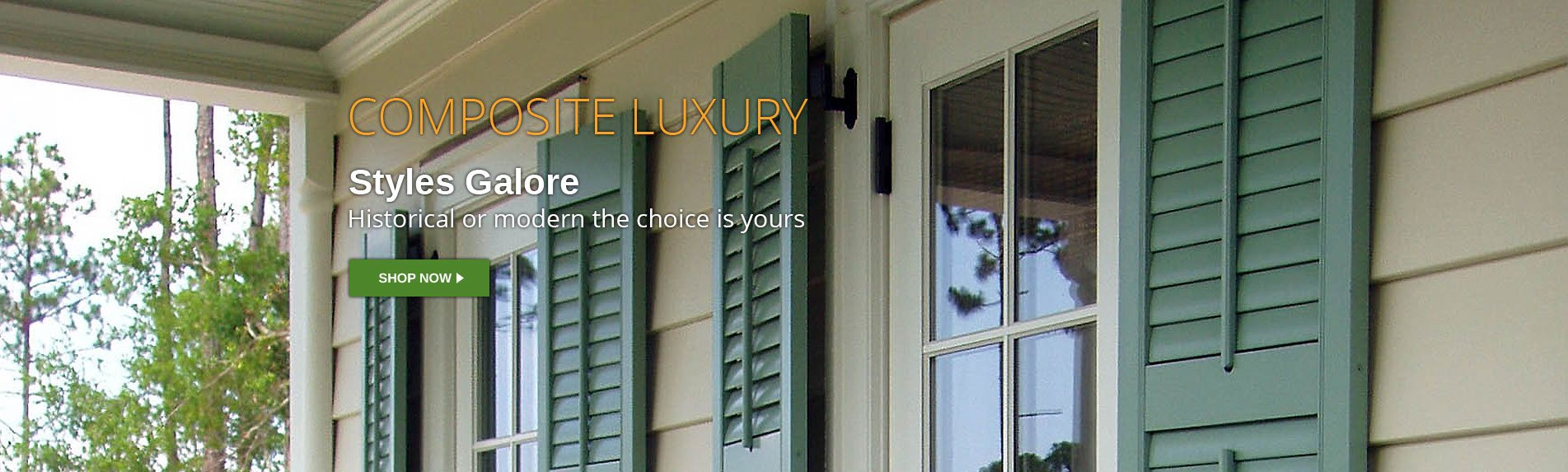 Composite Luxury Shutters Styles Galore
